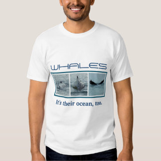 Trio of Diving Whale Photo Images Shirts