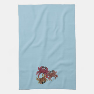Trio of Dungeness Crabs Tea Towel