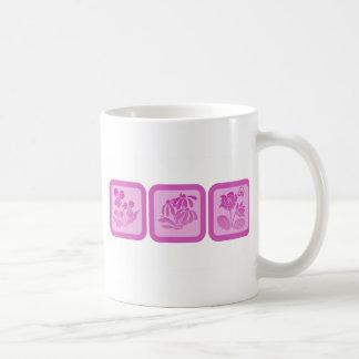 Trio of Flowers Basic White Mug