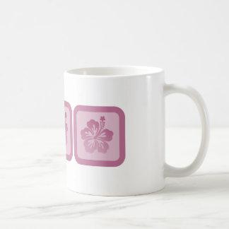 Trio of Hibiscus Basic White Mug