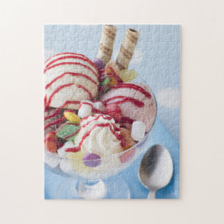 Trio of Ice Cream and Sweet Sundae Jigsaw Puzzle