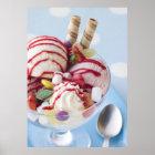 Trio of Ice Cream and Sweet Sundae Poster