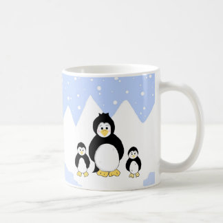 Trio of Penguins Basic White Mug