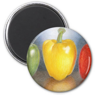 Trio of Peppers Art Magnet