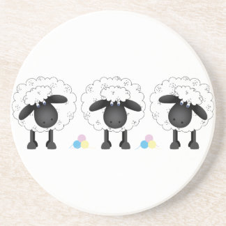 Trio Of Sheep Beverage Coasters