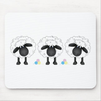 Trio Of Sheep Mouse Mat