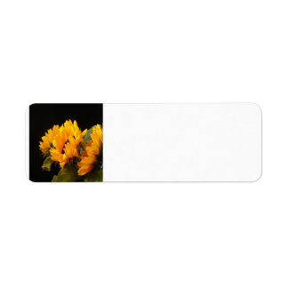 Trio of Sunflowers Return Address Label