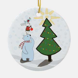 Trio of Tree Trimmers Holiday ornament