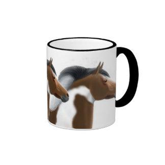 Trio of Tri Paint Horses Mug