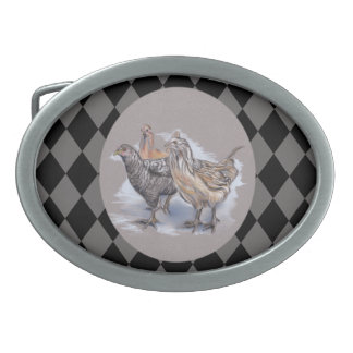Trio of Young Chickens Belt Buckle