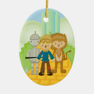 Trio on Yellow Brick Road Christmas Ornament