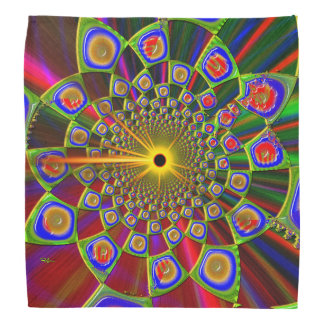 Trip In Psychedelic 3d Optics Bandana