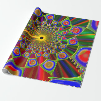 Trip In Psychedelic 3d Optics Wrapping Paper