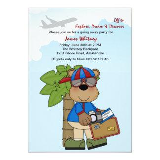 Trip Ready Teddy Going Away Party 13 Cm X 18 Cm Invitation Card