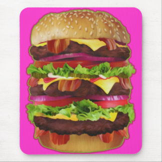 Triple Bacon Cheeseburger Mouse Pad