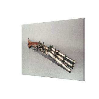 Triple-barrelled pistol canvas print