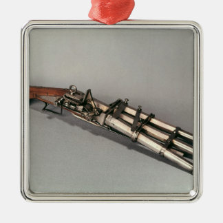 Triple-barrelled pistol christmas ornament