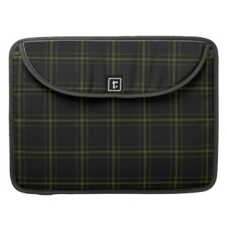 Triple Black Green Tartan Plaid Small Pattern Sleeve For MacBook Pro