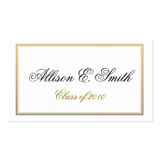 Triple Bordered Graduation Name Card Pack Of Standard Business Cards