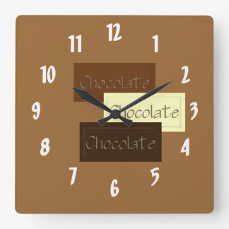 Triple Chocolate Square Wall Clock