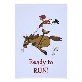 "Triple Crown Horse Race Party Invitation 3.5"" X 5"" Invitation Card"