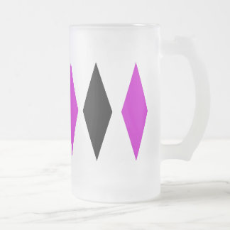 Triple Diamond Frosted Glass Beer Mug