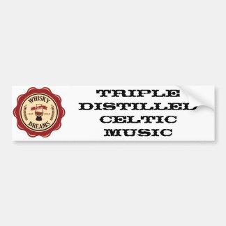 Triple Distilled Celtic Music Bumper Sticker Car Bumper Sticker