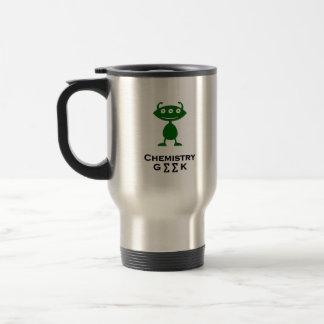 Triple Eye Chemistry Geek  green Travel Mug