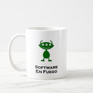 Triple Eye Software En Fuego green Coffee Mug