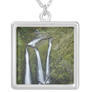 Triple Falls, Columbia River Gorge Silver Plated Necklace