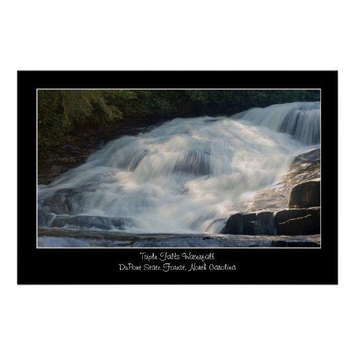 Triple Falls Waterfall Poster Print
