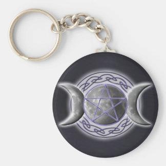 Triple Goddess 2 Basic Round Button Key Ring