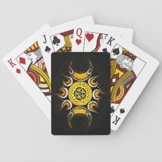 Triple Goddess Crowned - Dark Playing Cards