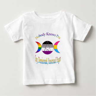 Triple Goddess Gay Demi Pansexual Pagan Pride Baby T-Shirt