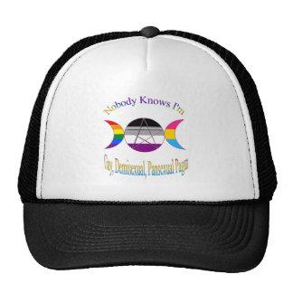 Triple Goddess Gay Demi Pansexual Pagan Pride Cap