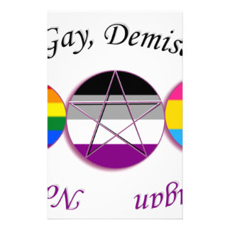 Triple Goddess Gay Demi Pansexual Pagan Pride Stationery Design