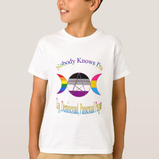 Triple Goddess Gay Demi Pansexual Pagan Pride T-Shirt