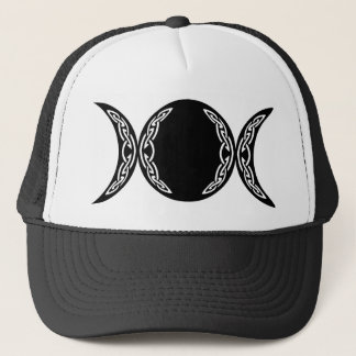 Triple Goddess Moon Symbol Trucker Hat
