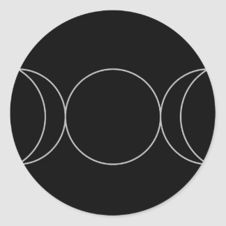 Triple Goddess Neopaganism.jpg Classic Round Sticker