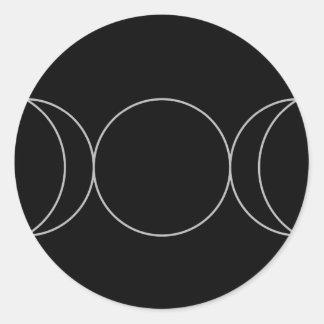 Triple Goddess Neopaganism.jpg Round Sticker