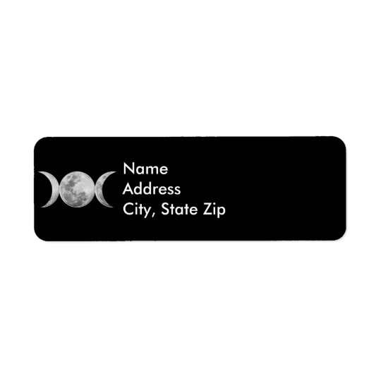 Triple Goddess Return Address Label