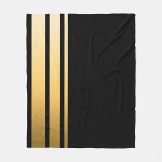 Triple Gold Stripe Fleece Blanket
