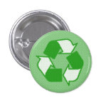 triple green halftone recycle logo button