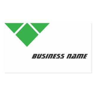 Triple Green Stock Broker Business Card