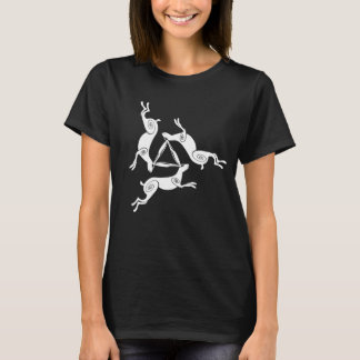 Triple Hare Triskele Ladies Dark Tee