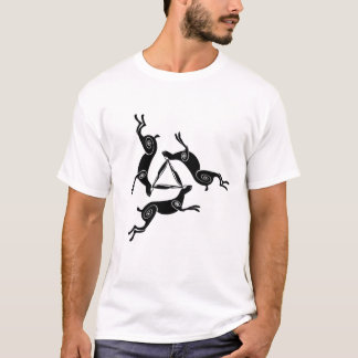Triple Hare Triskele Mens Light Tee