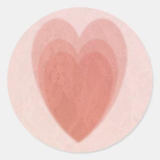 Triple Heart Round Sticker