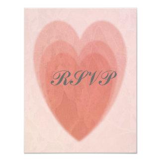 Triple Heart RSVP 4.25x5.5 Paper Invitation Card