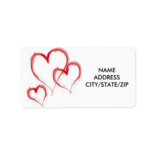 ***TRIPLE HEARTS*** ADDRESS LABELS