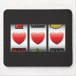 Triple Hearts Jackpot slots machine mousepad